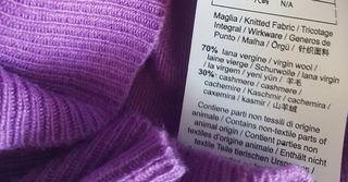 Koyu Mor Renk (Lila) Kaşmir Kumaş Etiket Nedir?