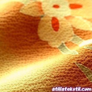 Gül Emprime Baskı Tensel Krep Kumaş Modelleri