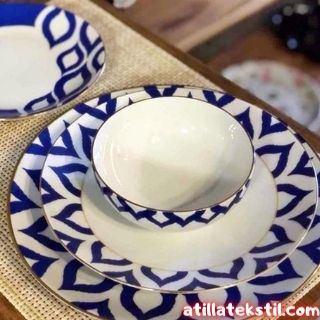 İkat Desen Kahve Fincanı ve Kahve Tabağı Türleri - Hat Sanatı - Atilla Tekstil