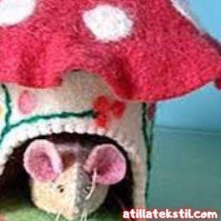 Keçe Kumaş Hayvan Yatağı Modelleri - Fare - Kedi - Köpek vb. Hayvanlara da Bu şekilde Yuva Yapılabilir!