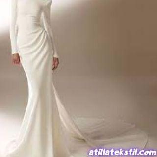 Kadın Kalem Elbise Krep Desensiz Düz Bayan Abiyelik Kumaş