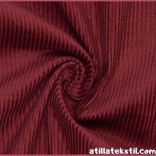 Koyu Kırmızı Fitilli Kadife Kumaş Modelleri Fotoğrafı