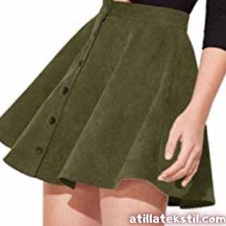 Bayan Kadife Kumaş Mini Etek Modelleri - Fiyatları